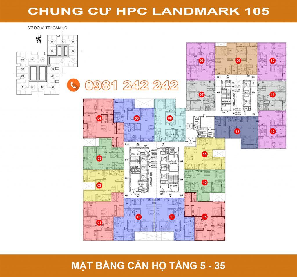 mặt bằng hpc landmark 105