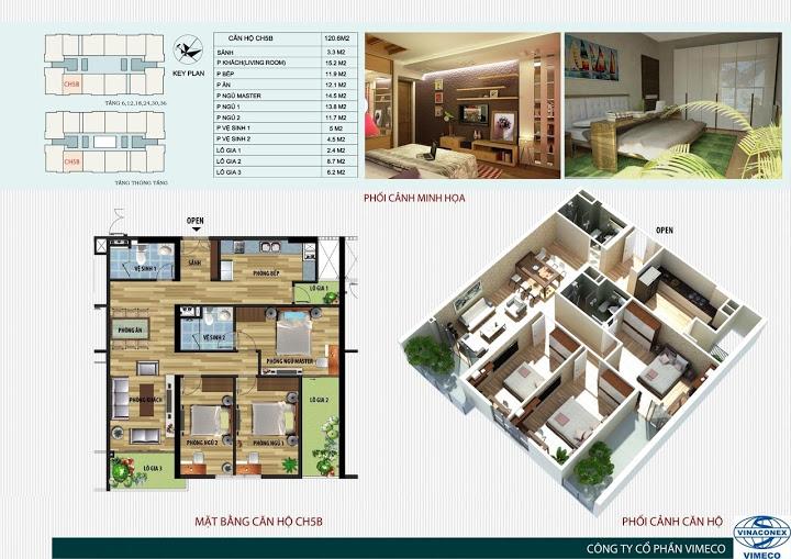 Mặt bằng căn hộ 120 m2